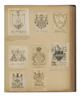 (BOOKPLATES)-Over-750-eighteenth-to-nineteenth-century-engraved-bookplates-ownership-labels-bookseller's-tickets-etc