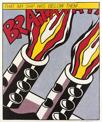 ROY-LICHTENSTEIN-As-I-Opened-Fire-Poster-Triptych