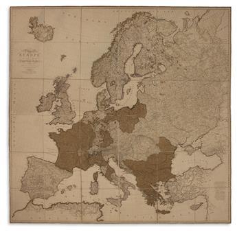 FADEN, WILLIAM. A Map of Europe, In Which Are Deli