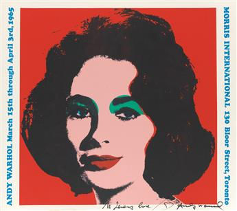 ANDY WARHOL (after) Three color offset lithographs