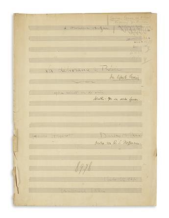MILHAUD-DARIUS-Autograph-Musical-Manuscript-dated-and-Signed