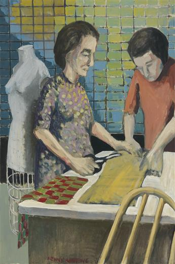 BENNY ANDREWS (1930 - 2006) Seamstress.