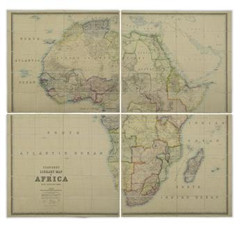 (AFRICA.) Stanford, Edward. Stanford's Library Map