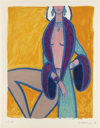 BERNARD-VILLEMOT-(1911-1989)-LES-PARISIENNES-Portfolio-of-5-lithographs-1971-Each-26x20-inches-66x52-cm-Mourlot-Paris
