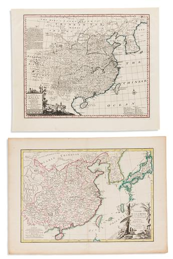 (CHINA.) Group of 4 eighteenth-century engraved maps of China and Korea.