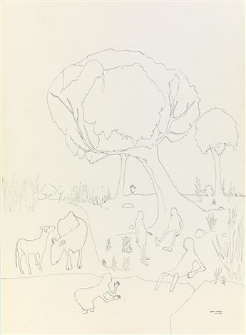 BENNY ANDREWS (1930 - 2006) Untitled.