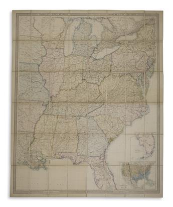 (CIVIL WAR.) Stanford, Edward. Stanford's Map of t