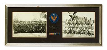 (MILITARY--WORLD WAR TWO.) TUSKEGEE AIRMEN. WANAMAKER, GEORGE. Small but significant group of items from a Tuskegee Pilot.
