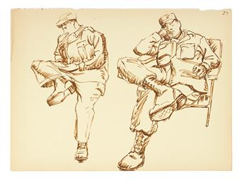 (ART.) MASOOD, ALI WILBERT WARREN. Large collection of the artist's original work.