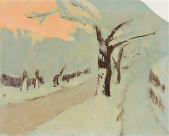 FAIRFIELD PORTER Group of 4 works on paper.