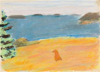 FAIRFIELD-PORTER-Group-of-4-works-on-paper