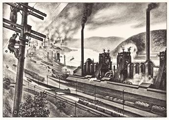 LOUIS LOZOWICK (1892-1973) Steel Valley.