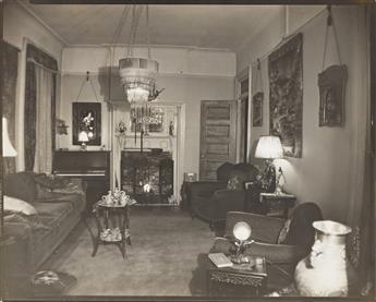 JAMES VANDERZEE (1886 - 1983) Untitled (Interior of a Harlem Brownstone).