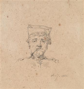 CHARLES-ÉMILE-JACQUES-(Paris-1813-1894-Paris)-Group-of-4-pen