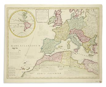 SENEX-JOHN-Group-of-engraved-maps-with-fine-original-hand-co