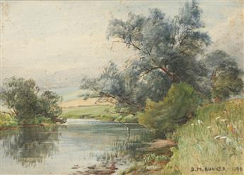 DENNIS MILLER BUNKER Landscape with a River.