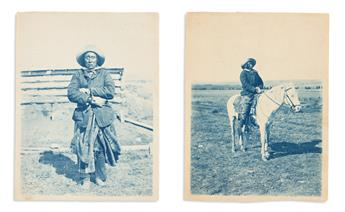 (AMERICAN INDIANS--PHOTOGRAPHS.) Group of 7 unmounted photographs.