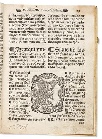 (MEXICAN IMPRINT--1577.) [Alonso de Molina.] [Confessionario mayor en la lengua mexicana y castellana.]