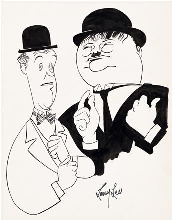 (CARICATURE / COMEDIANS) LARRY LEE (20th century) Group of 21 caricatures of 20th-century comedians