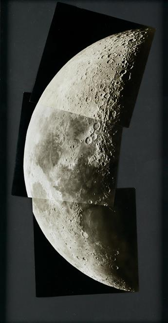 (LUNAR COLLAGE) A contemporary sequence of 10 photographic assemblages, each work depicting a separate section of the Moon.