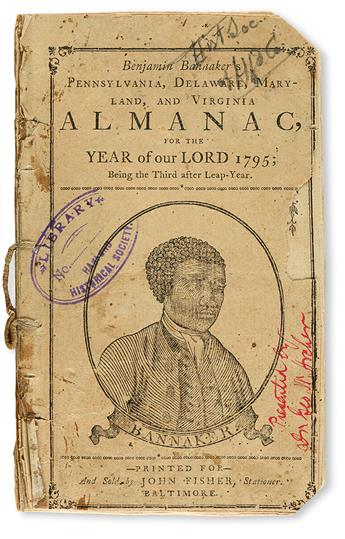 (ALMANACS.) Benjamin Bannakers Pennsylvania, Delaware, Maryland and Virginia Almanack for the Year of our Lord 1795.