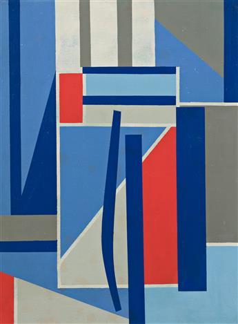 CARL HOLTY (1900 - 1973, AMERICAN) Blue Progression.