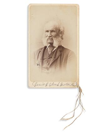 (SLAVERY AND ABOLITION.) Signed photograph of Lewis G. Clarke, inspiration for the escaped slave in Uncle Toms Cabin.