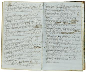 (WHALING.) Taber, Alida. Diary kept by the wife of a whaling captain, including two whaling expeditions.