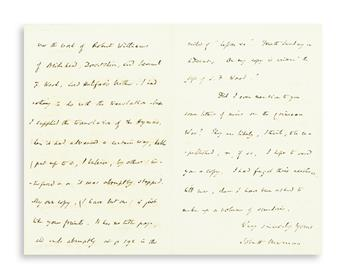 NEWMAN, JOHN HENRY; CARDINAL. Autograph Letter Signed, JohnH Newman, to William Cope (My dear Sir William),