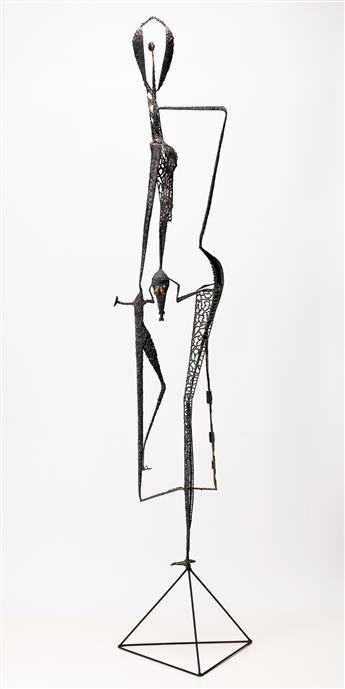 DAVID HARE, (1917 - 1992, AMERICAN) Figure in the Windows.