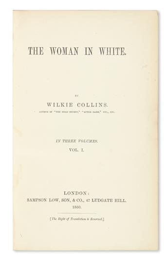 COLLINS, WILKIE. The Woman in White.