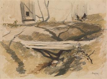 LOUIS-ADOLPHE-HERVIER-(Paris-1818-1879-Paris)-Three-drawings