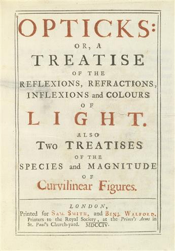 NEWTON-ISAAC-Sir--Opticks--1704