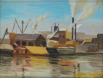 MALVIN GRAY JOHNSON (1896 - 1934) Along the Harlem River.