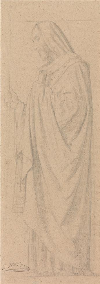 JEAN-HIPPOLYTE-FLANDRIN-(Lyon-1809-1864-Rome)-Two-pencil-dra