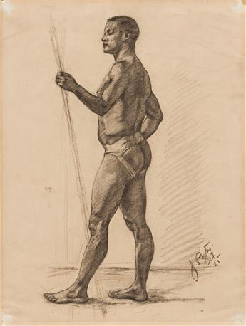 JAMES A. PORTER (1905 - 1970) Untitled (Male Nude).