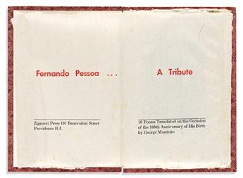 (ZIGGURAT PRESS.) Pessoa, Fernando. A Tribute.