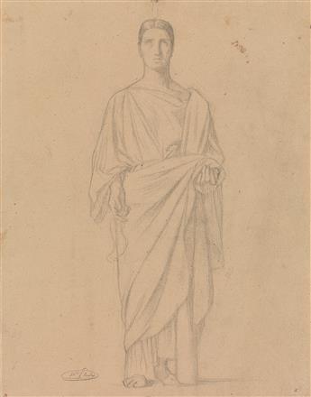 JEAN-HIPPOLYTE-FLANDRIN-(Lyon-1809-1864-Rome)-Group-of-5-pen