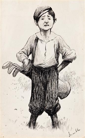 EDWARD WINDSOR KEMBLE (1861-1933) The Caddy. [GOLF]