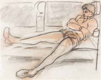 AVEL DE KNIGHT (1923 - 1995) Three Drawings.