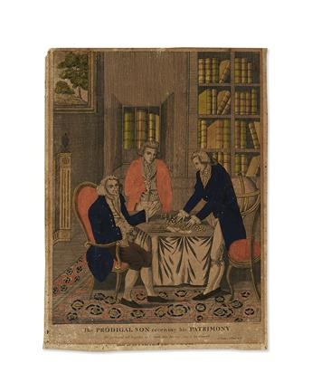 DOOLITTLE, AMOS; engraver. The Prodigal Son Receiving his Patrimony * The Prodigal Son Revelling with Harlots *