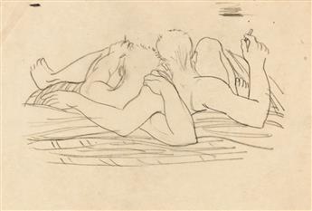 AVEL DE KNIGHT (1923 - 1995) Four Drawings.