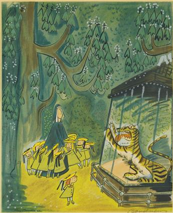 BEMELMANS-LUDWIG--CHILDRENS--GRAPHICS-To-the-Tiger-in-the-Zo
