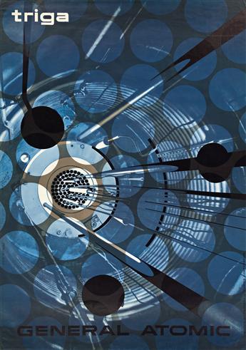 ERIK NITSCHE (1908-1998).  GENERAL ATOMIC / TRIGA. 1958. 50¼x35¼ inches, 127½x89½ cm. R. Marsens, Lausanne.