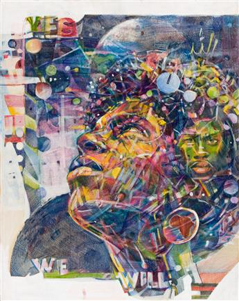 NELSON STEVENS (1938 - ) Yes, We Will.
