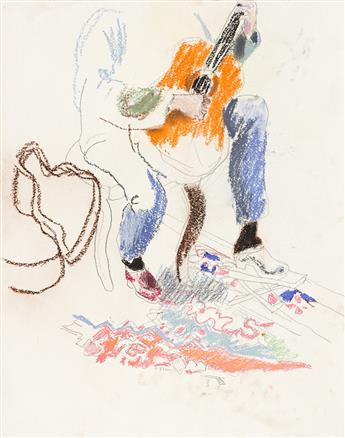 FAIRFIELD PORTER Three drawings.