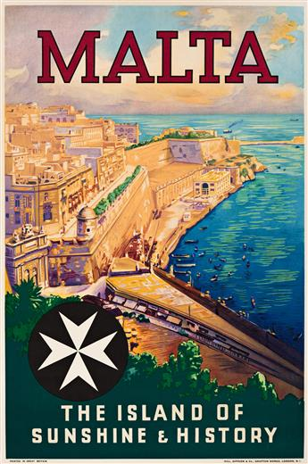 Various Artists.  [INTERNATIONAL TRAVEL.] Group of 9 posters. 1930s-1950s.