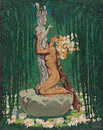"MAHLON BLAINE (1894-1969) ""Ratna Manggali - daughter of Rangda and Bodhisattva."""