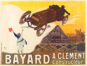 """WEILUC (LUCIEN HENRI WEIL, 1873-1947).  """"BAYARD"""" / A CLÉMENT CONSTRUCTEUR. 1908. 46½x62¼ inches, 118x158 cm. Société Nouvelle d'Art &"""