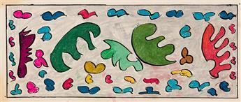 ROMARE BEARDEN (1911 - 1988) Three abstract works on paper.